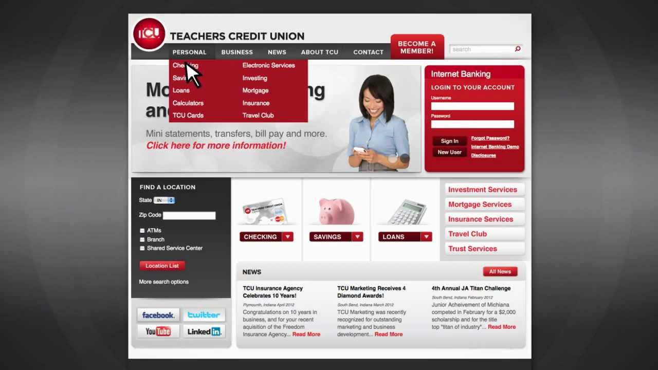Teachers Credit Union - The New TCUnet.com - YouTube