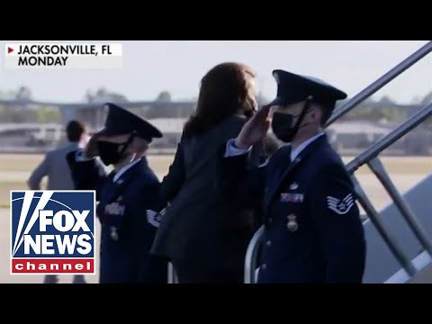 Kamala Harris avoids saluting military members
