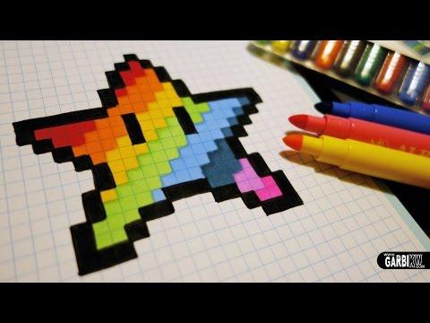 Handmade Pixel Art How To Draw A Kawaii Rainbow Star
