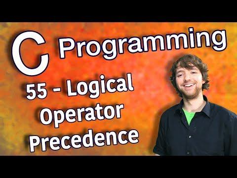C Programming Tutorial 55 - Logical Operator Precedence thumbnail