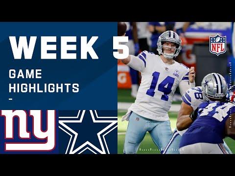 Giants vs. Cowboys Week 5 Highlights | NFL 2020