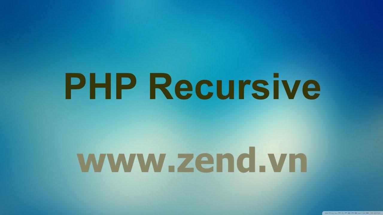 Tạo menu đa cấp với kỹ thuật đệ quy trong PHP - PHP recursive - Video 02