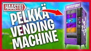 PELKKÄ VENDING MACHINE *HAASTE* | (Fortnite Suomi)
