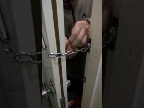 How to open a chain lock from the outside - YouTube