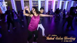 Adil & Majda - salsa dancing - pré-party @ RABAT SALSA MEETING