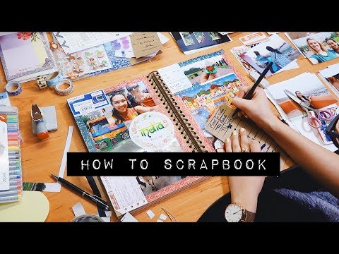 DIY HOW TO SCRAPBOOK