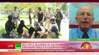At least 10 stabbed at Sacramento far-right rally & counter-protest
