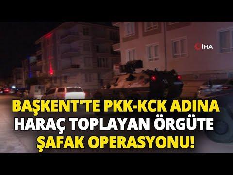 Ankara'da PKK-KCK Adına Haraç Toplayan Örgüte Şafak Operasyonu