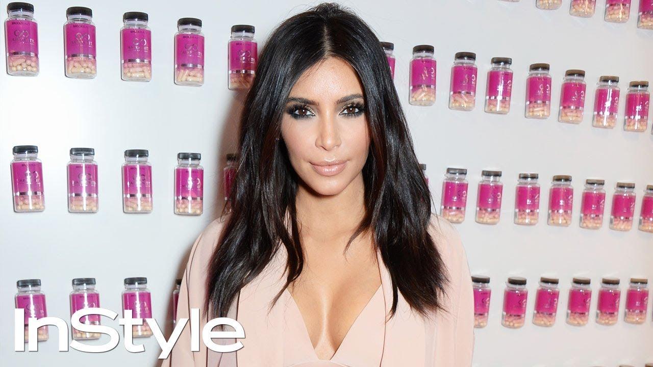 Kim Kardashians Textured Waves Hair Tutorial Instyle Youtube