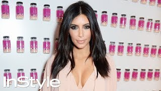 Kim Kardashian's Textured Waves Hair Tutorial | InStyle