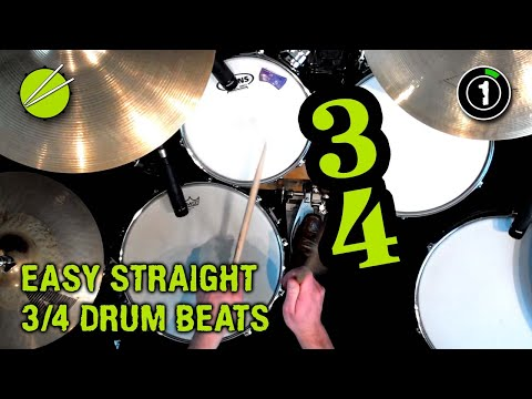 How to Play SIMPLE 3/4 (Waltz) Drum Beats! - YouTube