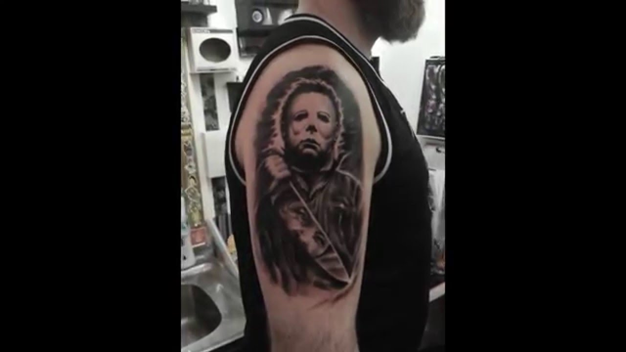 Michael myers tattoo halloween youtube for Michael myers tattoo