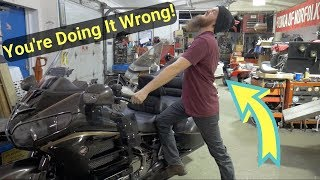 How To Centerstand Your Motorcycle