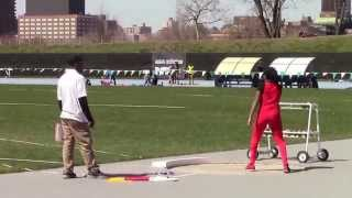 Icahn Stadium 2015 11 and 12 girls shot putt -  Jordan Somerville