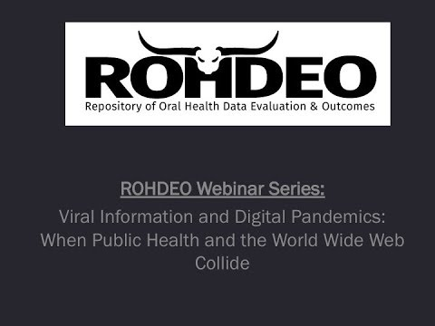 Viral Information and Digital Pandemics  When Public Health and the World Wide Web Collide