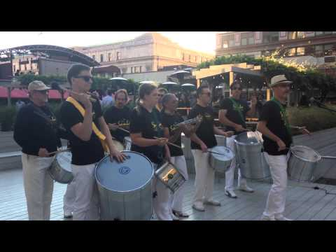 Samba New York! Playing Batucada at Manhattan's One Penn Plaza