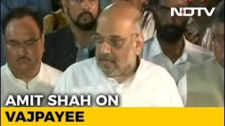 """India Has Lost The Pole Star Of Indian Politics"": Amit Shah"
