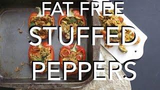 Fat Free Stuffed Peppers - Vegan, Gluten Free, Hclf