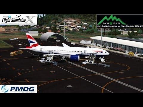 FSX:SE PMDG 777 Landing ST. KITTS ROBERT L. BRADSHAW TKPK [FULLHD]