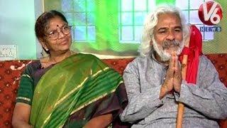 Telangana Prajagayakudu Gaddar & Vimala in Lifemates | V6 News