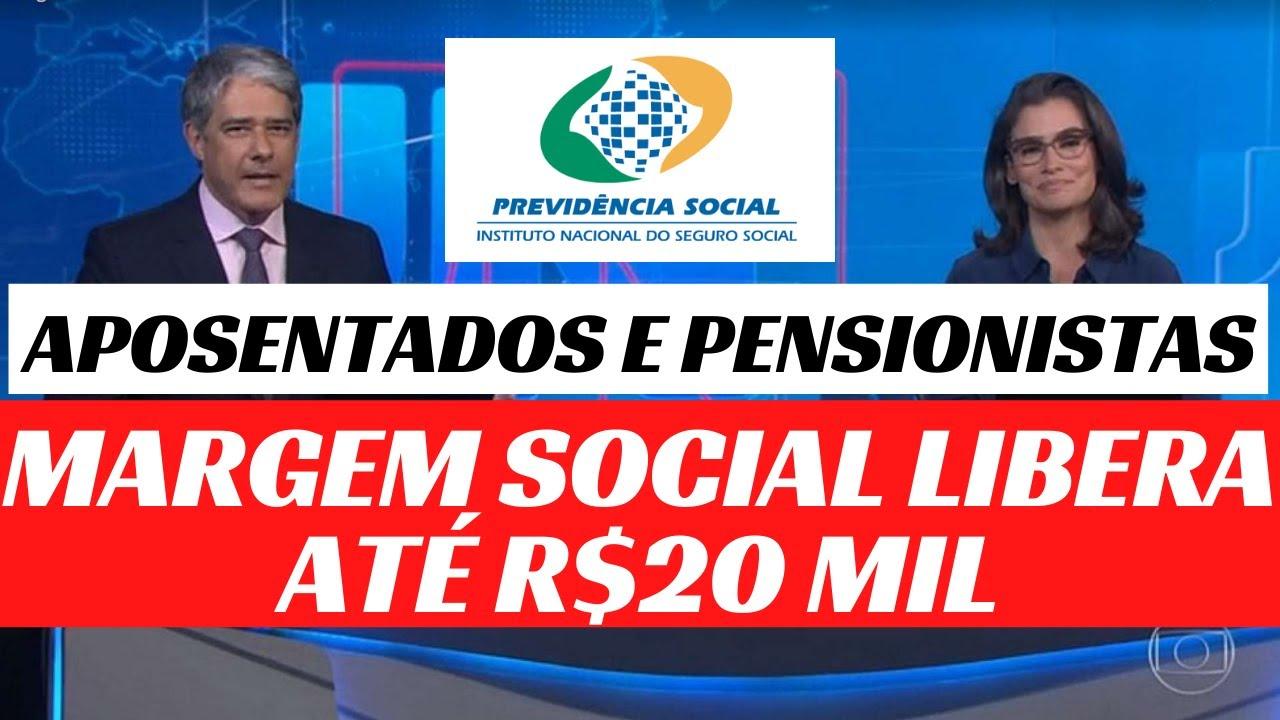 APROVAÇÃO DA MARGEM SOCIAL PARA OS APOSENTADOS INSS - o que falta para o novo crédito de até R$20mil