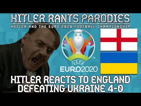 Hitler reacts to England defeating Ukraine 4-0