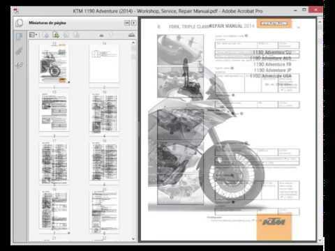 ktm 1190 adventure (2014) - service manual - wiring diagram