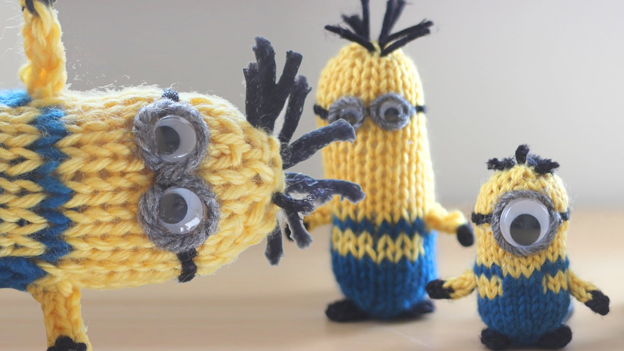 How to Knit a MINION - YouTube