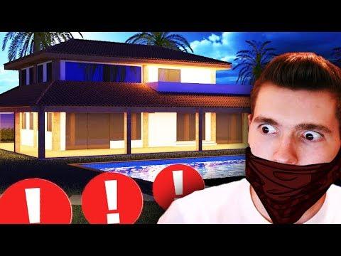 ENTREI NA CASA DE NOITE!!! (MEDO) - Thief Simulator