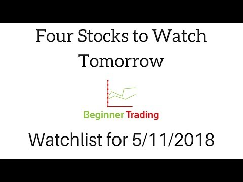 Top Four Stocks I'm Watching Tomorrow (May 11th) - Day Trading Penny Stock Watchlist