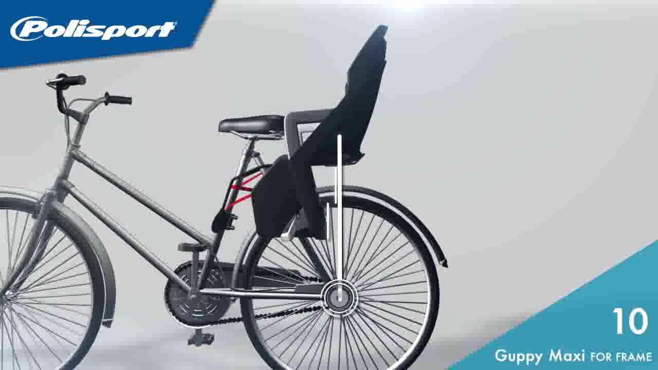 Polisport Montage Des Sièges Enfant Guppy Sur Cadre De Vélo Youtube