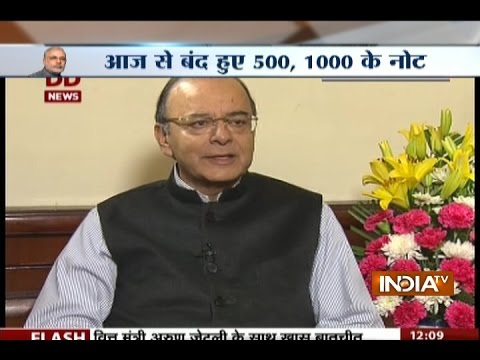 Arun Jaitley Justifies Ban on Rs 500 and Rs 1000 Currency Notes