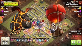 TOP Clear TH12 - Balon Lava -Clash Of Clans War
