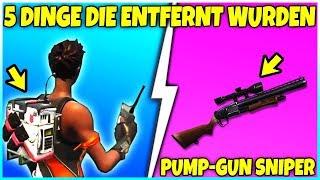 ❌ 5 DINGE die aus FORTNITE ENTFERNT wurden! ❌ PUMP-GUN SNIPER & Mehr!- Fortnite Battle Royale
