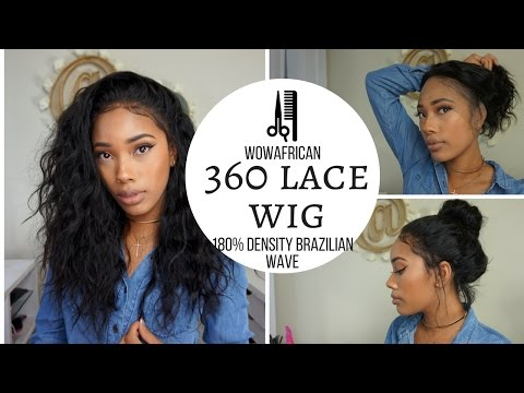 acf6c526f5 360 Lace Frontal Wig 180% Density Natural Wave Brazilian Virgin Hair  [TLW03] - YouTube
