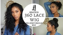 360 Lace Frontal Wig 180% Density Natural Wave Brazilian Virgin Hair [TLW03]