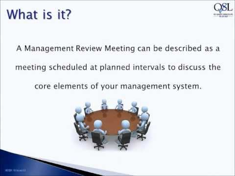 Video How to run a Management Review Meeting YouTube – Management Review Template