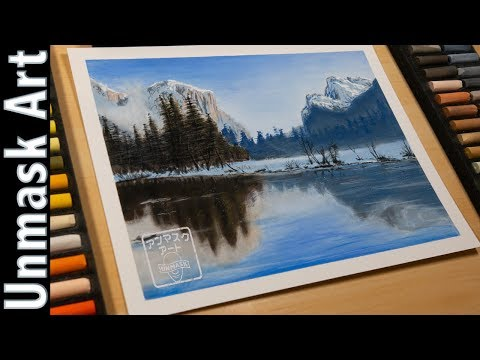 Beautiful Winter Landscape Painting with Soft Pastels | Live Tutorial Part 2