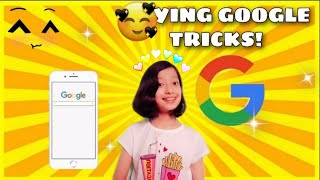 TRYING COOL GOOGLE TRICKS!!|RE…