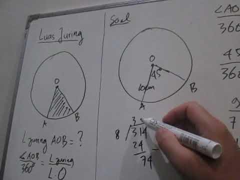 Luas Juring Lingkaran Serta Contoh Soal Dan Pembahasannya Youtube