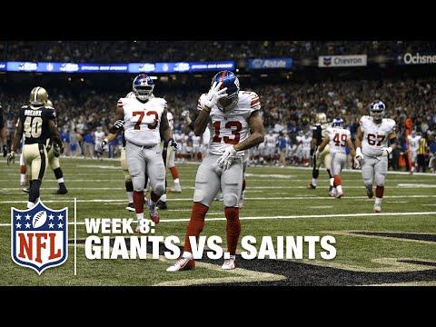 Odell Beckham Jr.'s Michael Jackson End Zone Dance  Giants vs. Saints  NFL