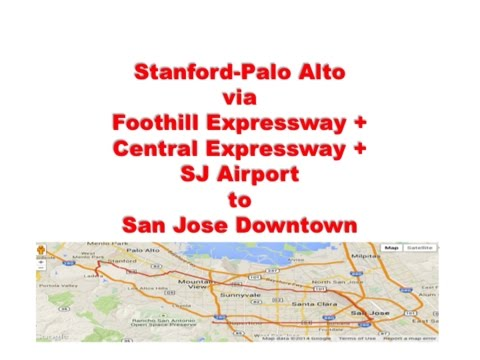 Stanford to San Jose Convention Center ROAD BIKE ROUTE