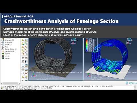 ABAQUS tutorial | Crashworthiness Analysis of Fuselage Section | 17-22