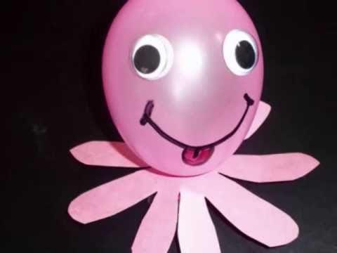 Manualidades con globos como hacer un pulpo con un globo - Manualidades con globos ...