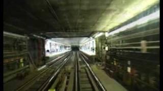 Prague Metro (Inside the box structure of the Nusle Bridge)