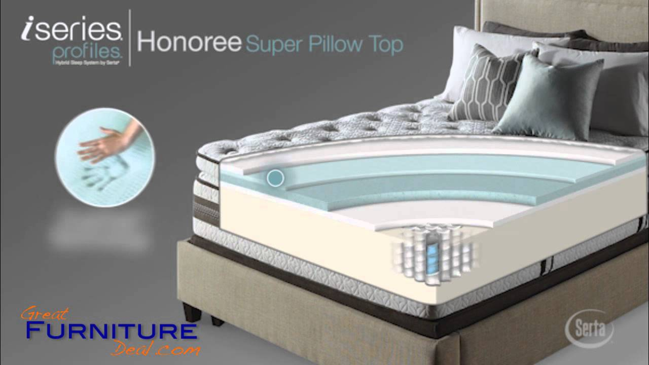Serta Mattress  Iseries Profiles Honoree Super Pillow Top by GreatFurnitureDealcom  YouTube