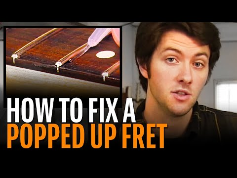 Fixing fret buzz: seating a popped-up fret