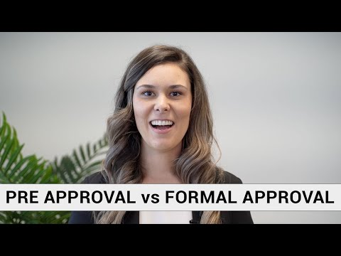 Pre Approval vs Formal Approval ✅