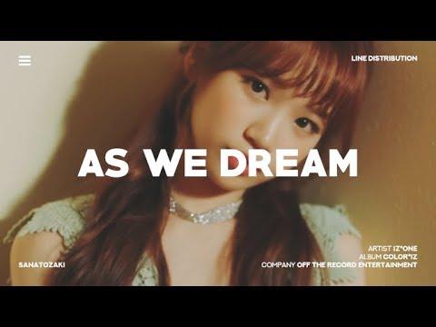 IZ*ONE (아이즈원) - As We Dream (꿈을 꾸는 동안) | Line Distribution
