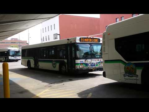 CATA buses leaving downtown